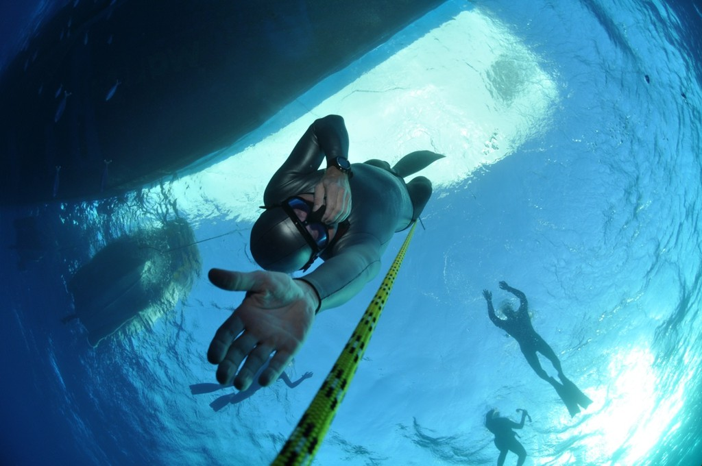 Freediving s lanem